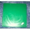 Placa portanumeros cuadrada verde