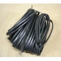 Macarrón de instalación negro 8 mm